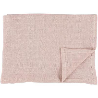 Lot de 2 langes en mousseline de coton Bliss Rose (110 x 110 cm)  par Trixie