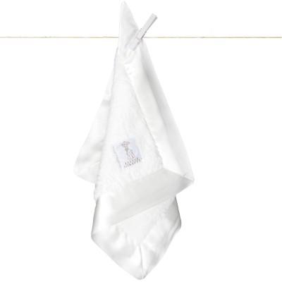 Doudou couverture Chenille blanc (40 x 40 cm) Little giraffe