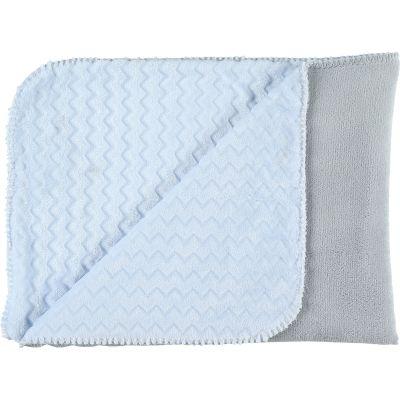 Couverture bicolore Groloudoux Mix & Match bleu clair et grise (75 x 100 cm)  par Noukie's