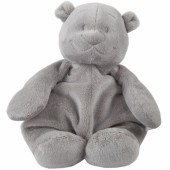 Peluche ours Nouky Poudre d'étoiles gris clair (25 cm) - Noukie's