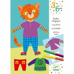 Kit de coloriage Les habits d'Elliot & Zoé