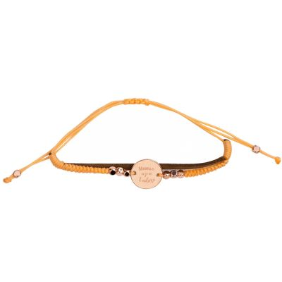 Bracelet cordon Mamie, je t'adore  par Mr. Wonderful