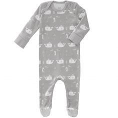 Pyjama léger Baleine grise (3-6 mois)