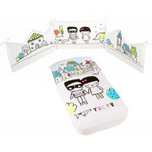 Set édredon et tour de lit People (pour lits 60 x 120 cm)  par Tuc Tuc