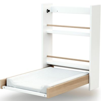 Table à langer murale en bois de hêtre Essentiel Plus blanc  par AT4