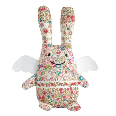 Ange lapin musical Liberty rouge (24 cm) Trousselier