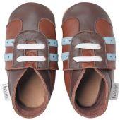 Chaussures de sports bébé cuir Soft soles marron (15-21 mois) - Bobux