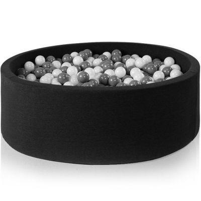 Piscine à balles ronde noire personnalisable (115 x 50 cm)