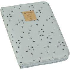Protège carnet de santé Casual menthe florale