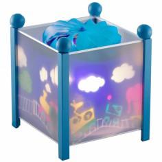 Lanterne magique Train bleu