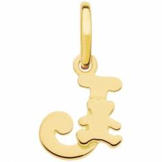 Pendentif initiale J (or jaune 375°)