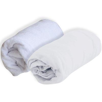 Lot alèse et drap housse blanc (60 x 120 cm)  par Domiva