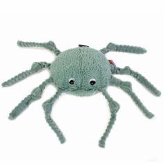 Peluche Les Ptipotos Ricominfou l'araignée verte (15 cm)