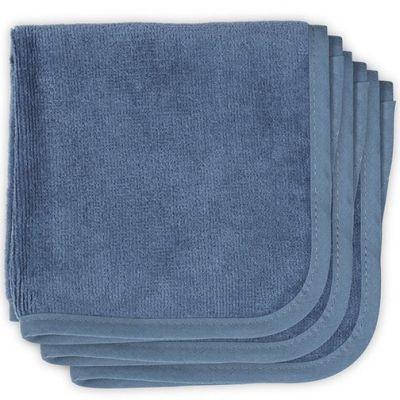 Lot de 3 essuie-mains bleu (30 x 30 cm)