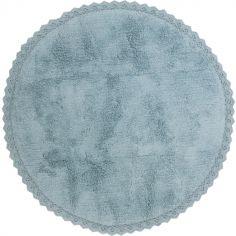 Tapis rond Perla bleu (110 cm)