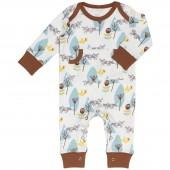 Combinaison pyjama renard bleu et marron (naissance : 50 cm) - Fresk