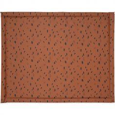 Tapis de parc plastifié Spot caramel (75 x 95 cm)