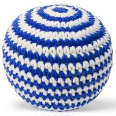 Balle tricotée bleue (11 cm)
