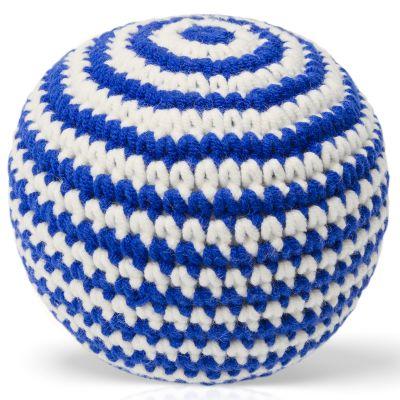 Balle tricotée bleue (11 cm)  par Just Dutch