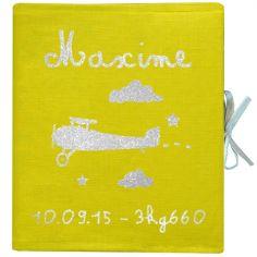 Livre de naissance jaune 88 pages (personnalisable)