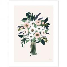 Affiche bouquet d'anémones Wonderland (30 x 40 cm)