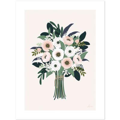 Affiche bouquet d'anémones Wonderland (30 x 40 cm)  par Lilipinso