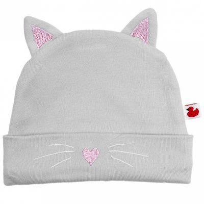 Bonnet en coton Chat  par BB & Co
