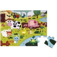 Puzzle tactile Les animaux de la ferme (20 pièces)