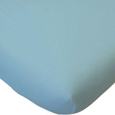 Drap housse de berceau en coton bio bleu (40 x 80 cm)  par Kadolis