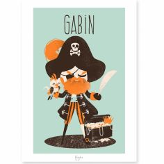 Affiche A4 Les Pirates le capitaine (personnalisable)