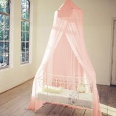 Moustiquaire pour lit rose clair