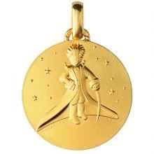 Médaille Le Petit Prince dans les Etoiles 18 mm (or jaune 750°)  par Monnaie de Paris