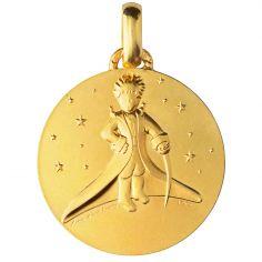 Médaille Le Petit Prince dans les Etoiles 18 mm (or jaune 750°)