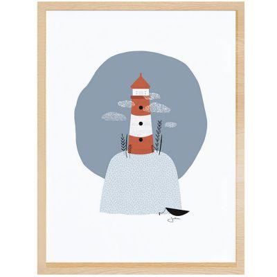 Affiche encadrée le phare (30 x 40 cm)  par Lilipinso