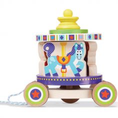 Carrousel à tirer en bois Pull Toy