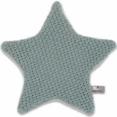 Doudou plat étoile Robust Maille gris vert (30 x 30 cm)