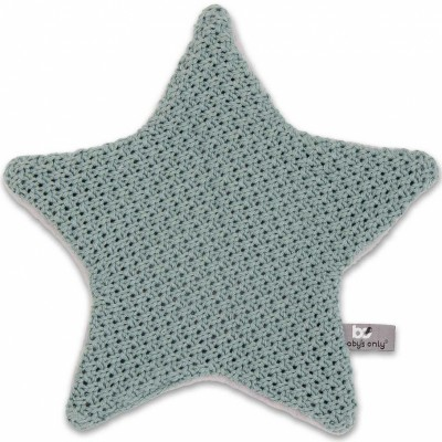 Doudou plat étoile Robust Maille gris vert (30 x 30 cm) Baby's Only