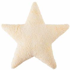 Coussin étoile vanille (50 cm)
