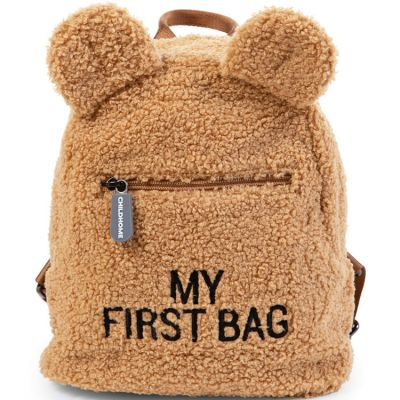 Sac à dos bébé My first bag Teddy beige (24 cm) Childhome