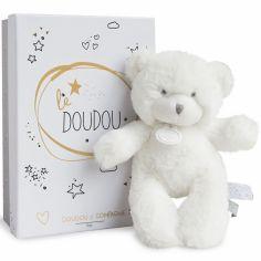 Peluche pantin ours blanc Le Doudou (20 cm)