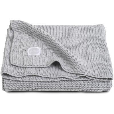 Couverture bébé en coton Basic knit gris clair (75 x 100 cm)  par Jollein