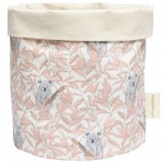 Panier de toilette rose pâle Koala