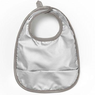 Bavoir à poche métallisé Stone Silver  par Elodie Details