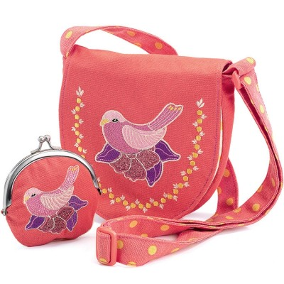 Sac et porte-monnaie oiseau Djeco