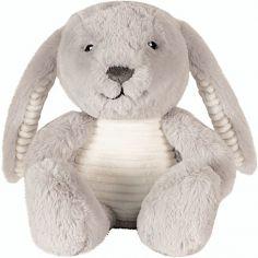 Peluche bruit blanc Milo le lapin gris