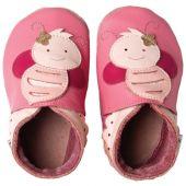 Chaussons bébé cuir Soft soles abeilles (15-21 mois) - Bobux