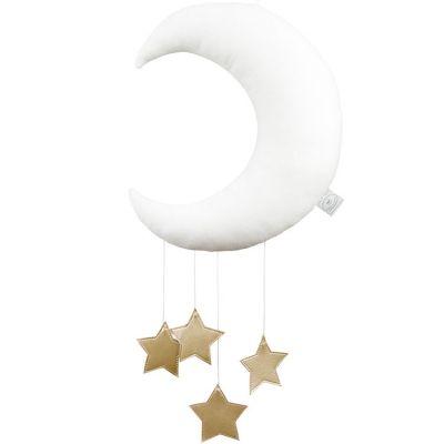 Mobile Lune blanc  par Cotton&Sweets
