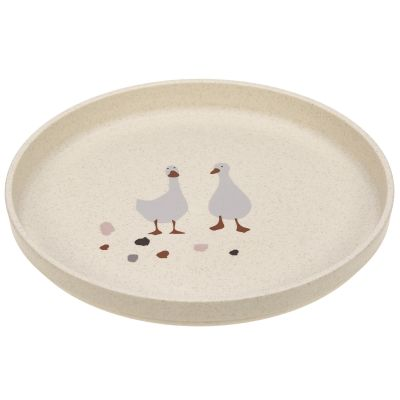 Assiette plate Tiny Farmer mouton et oie naturel  par Lässig