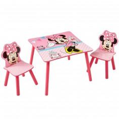 Ensemble table et 2 chaises Minnie