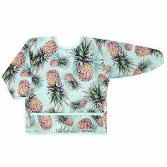 Bavoir à manches longues avec poche ananas